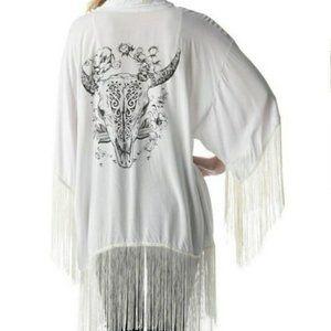 longhorn kimono top for coachella